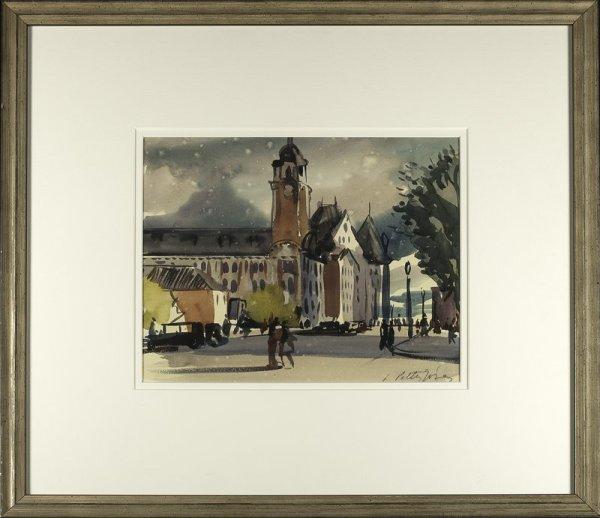 2420 - Post Office and Macdonald Hotel by Llewellyn Petley-Jones (1908-1986)