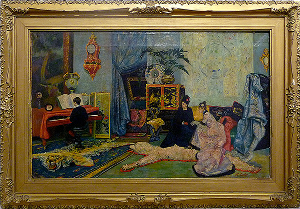 2681 - Parlour Scene by M. Carlier