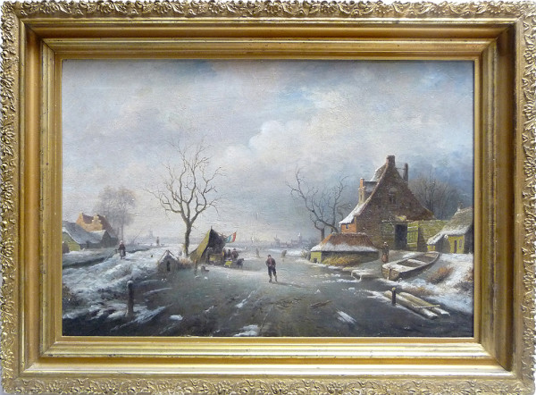 0131 - Winter Village by Artist Unknown