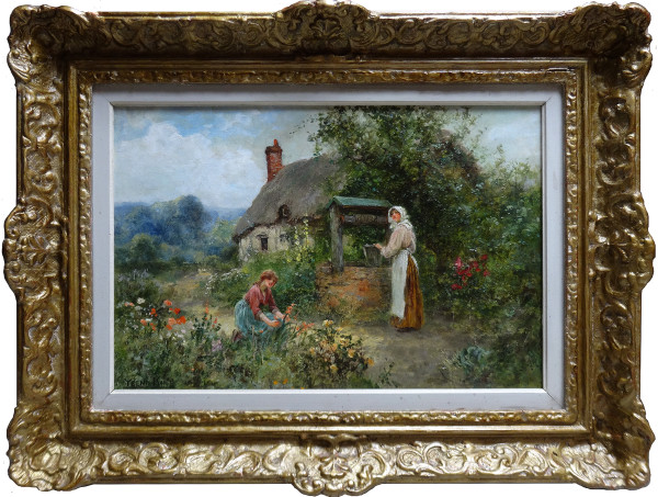 0133 - At the well by Henry John Yeene-King (1855-1924)