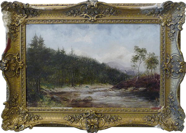 0014 - Landscape, mountain stream by Samuell James Barnes (1847-1901)