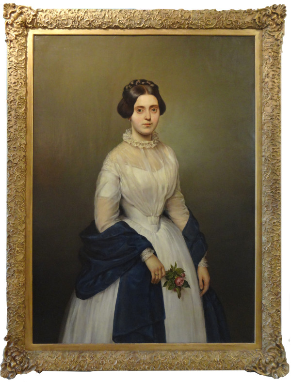 0141 - Portrait of a woman by F. Dahl