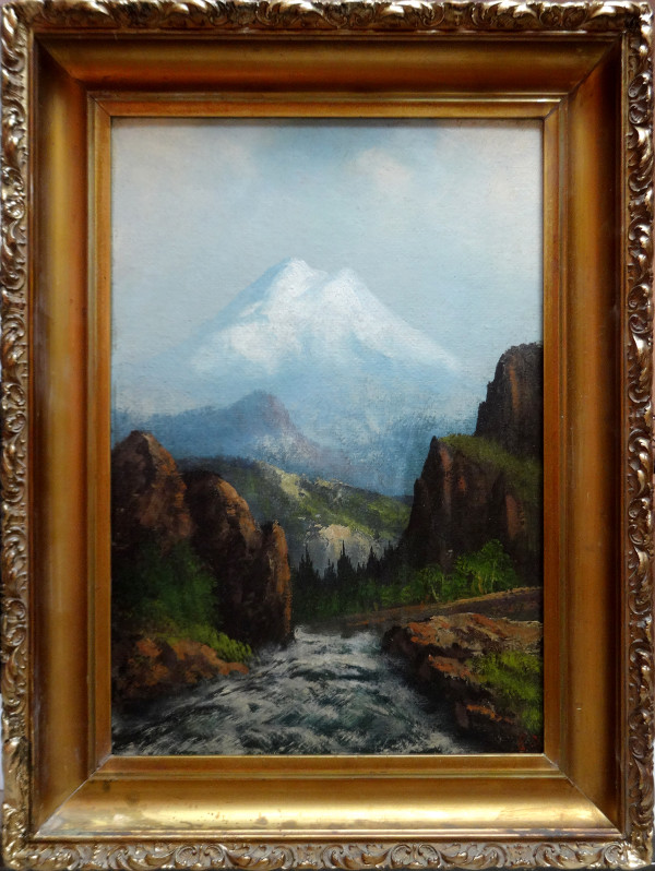 0142 - Landscape, mountain and stream