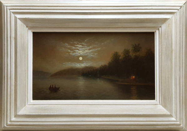 0152 - Indian Encampment by Hudson River School Unknown