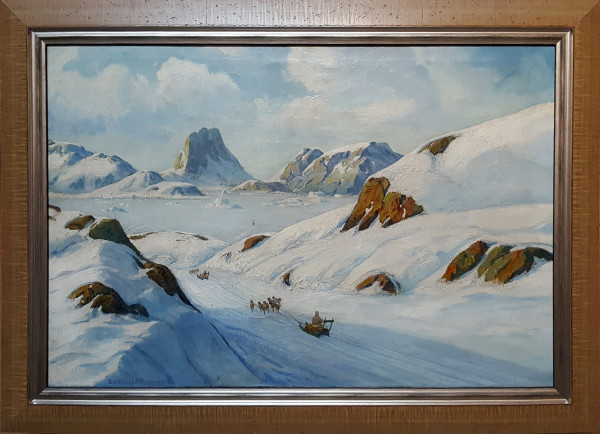 0155 - Travel by Dog Sled in Greenland by Emanuel A Petersen (1894–1948)