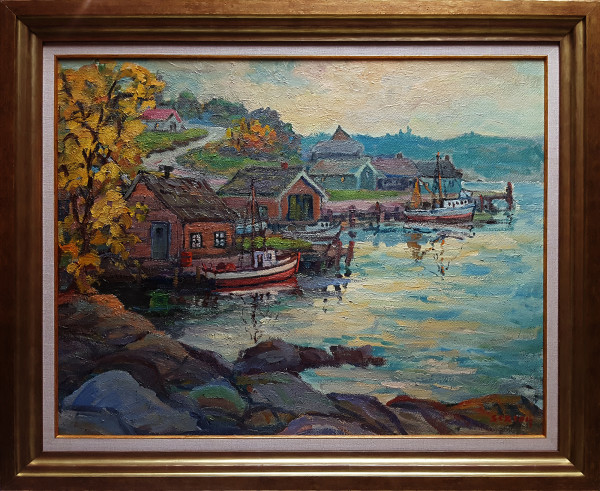 0166 - Harbour Scene by Sexton
