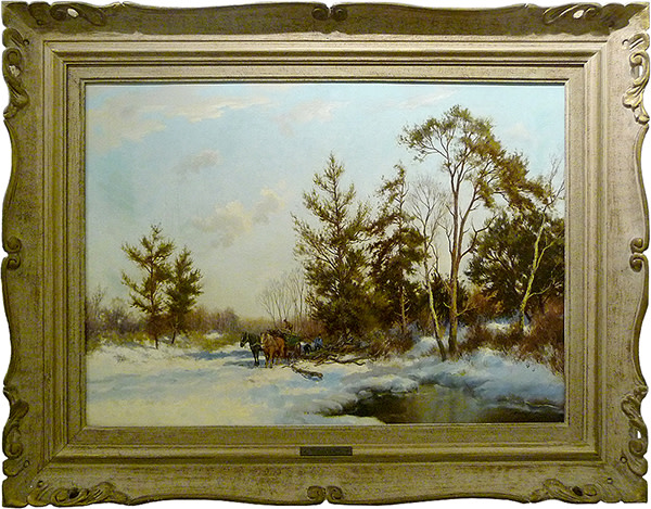 0031 - Winter at Hilversum by Dorus Arts (1901-1961)