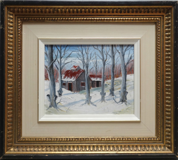 0042 - Winter Scene by French Canadian Unknown