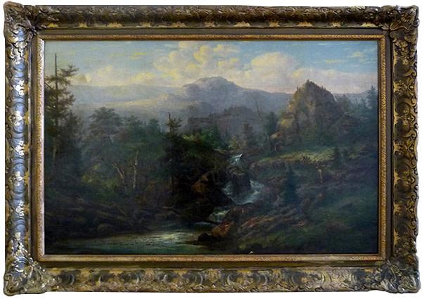 0048 - Autumn Scene by Joseph Antonio Hekking (1820-1903)