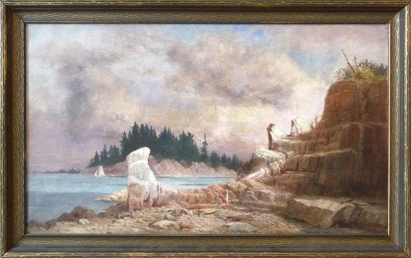 0069 - Landscape, Rocky Cliff by Unknown