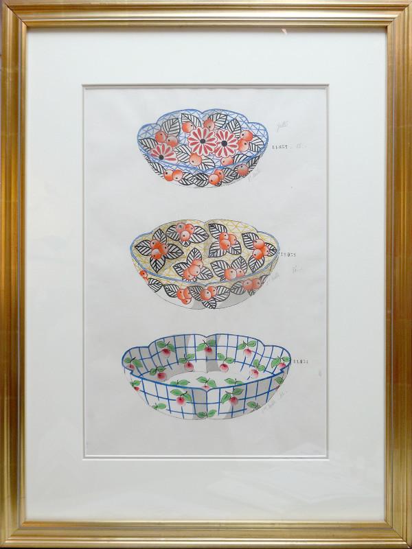 2121 - Porcelain Bowl Design by Louis Comfort Tiffany Design