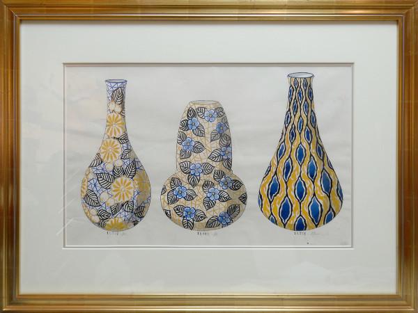 2122 - Porcelain Vase Design by Louis Comfort Tiffany Design