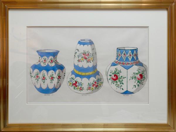 2123 - Porcelain Vase Design by Louis Comfort Tiffany Design