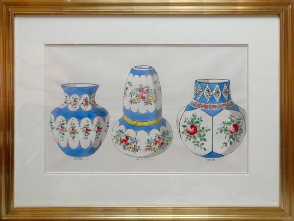 2123CONS - Porcelain Vase Design by Louis Comfort Tiffany Design
