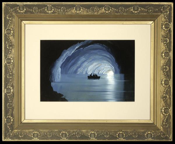 2138 - The Blue Grotto, Italy by Francesco Coppola Castaldo (1845-1916)