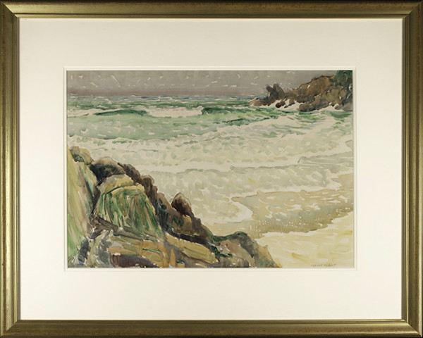 2705 - Beach Seascape by Claude Flight (1881-1955)