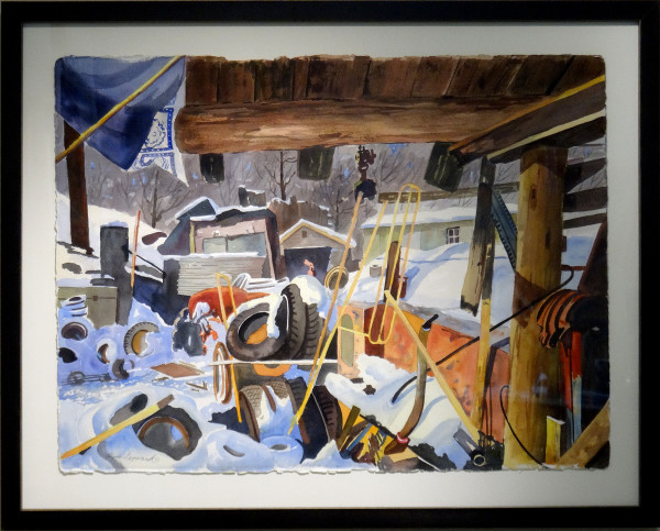 2151 - Carport, winter by Ron Leonard (1923-1998)