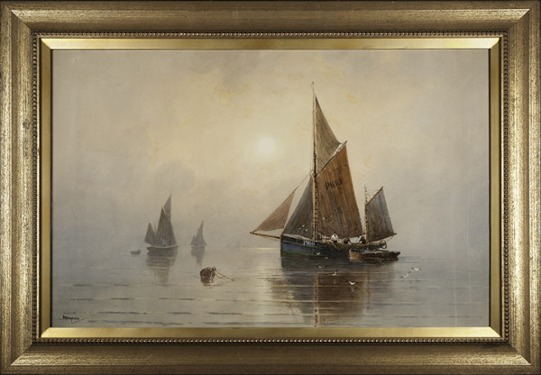 2034 - Calm Waters by Charles E Hannaford (1863-1955)