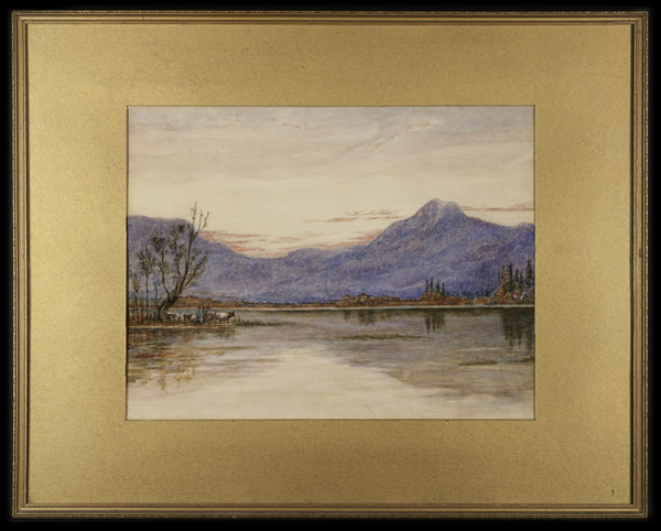 2037 - Landscape with Mountains by L.H. Gilpin