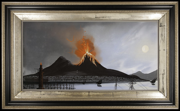2050 - Mount Vesuvius gouache by Unknown