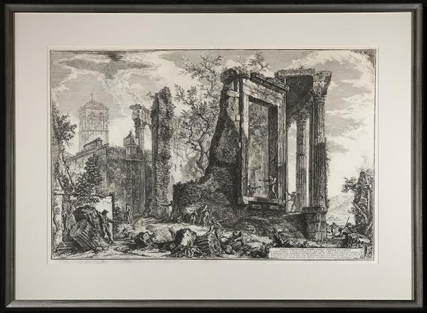 2096 - ALTRA VEDUTA DEL TEMPIO SIBILLA IN TIVOLI by Giovanni Battista Piranesi (1720-1778)