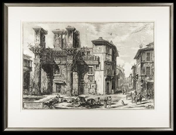 2097 - VEDVTA DEGLI AUANZI DEL FORIO DI NERVA by Giovanni Battista Piranesi (1720-1778)
