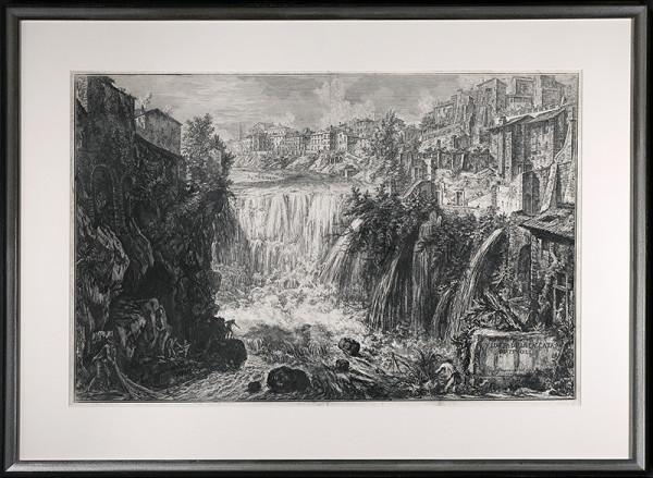 2098 - VEDVTA DELLA CASCATA DI TIVOLI by Giovanni Battista Piranesi (1720-1778)