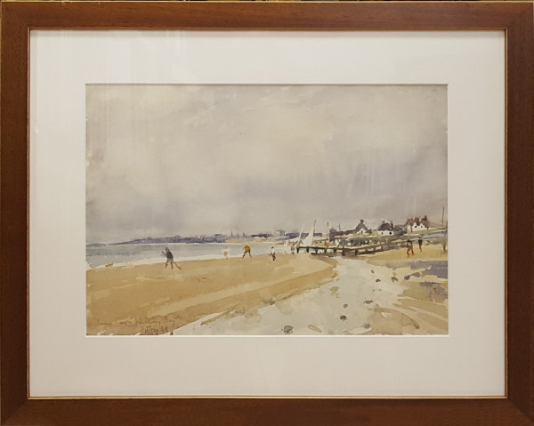 2419 - Rainy Days Pevensey Bay by Llewellyn Petley-Jones (1908-1986)