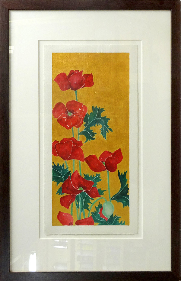 3972 - Red Flowers by Ann Nelson