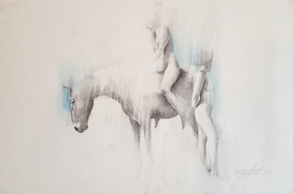 Rider on Horseback by Carl  White
