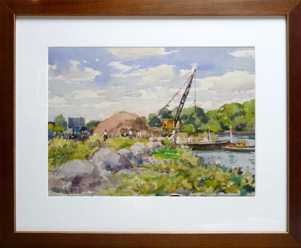 2416 - River Works at Ham by Llewellyn Petley-Jones (1908-1986)