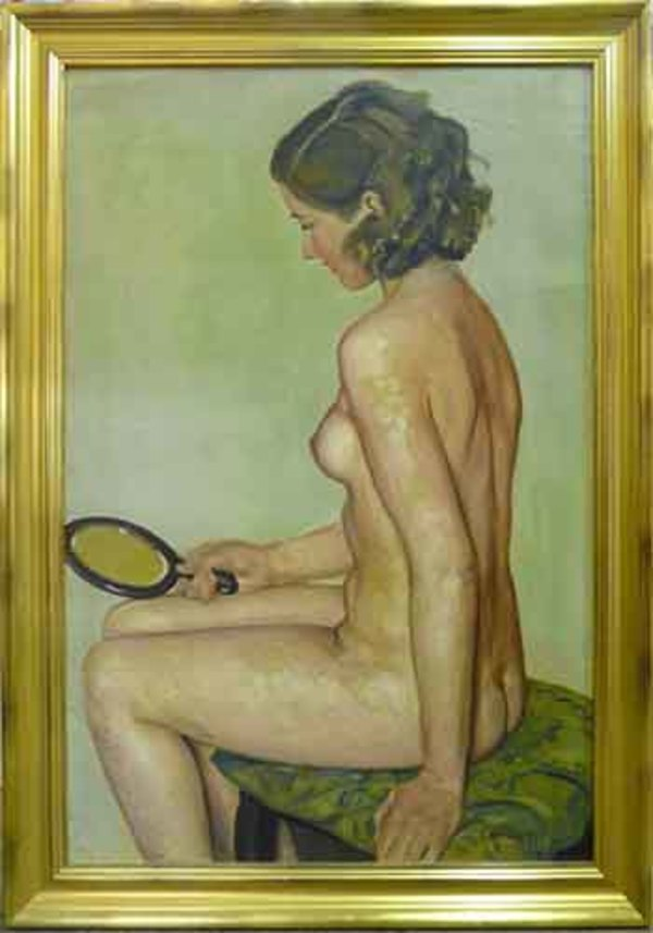 0294 - Seated Woman, Nude by Llewellyn Petley-Jones (1908-1986)