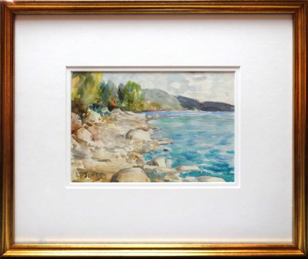 2352 - Sketch at Evening on the Shore, Saskatchewan River by Llewellyn Petley-Jones (1908-1986)