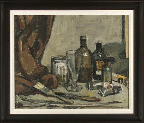 0212 - Bottles, Brushes and Paint 62 by Llewellyn Petley-Jones (1908-1986)