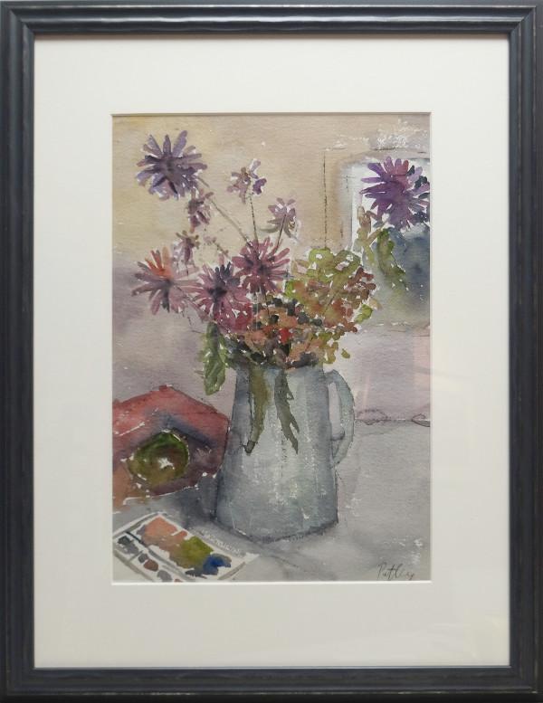 2803 - Still Life (Purple Flowers) by Llewellyn Petley-Jones (1908-1986)