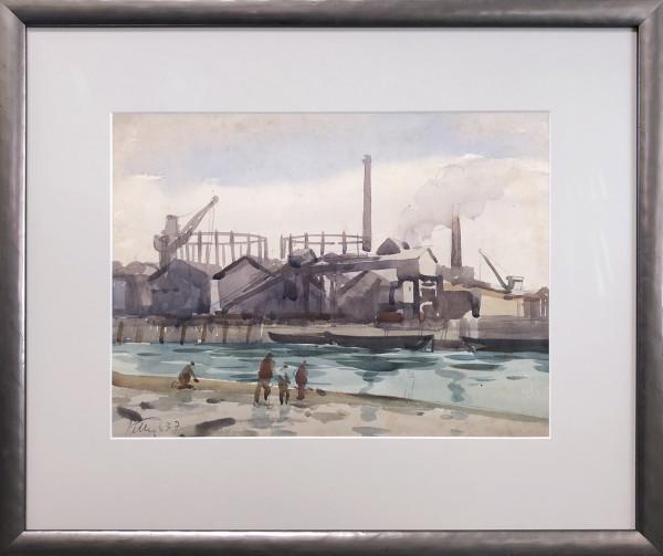 2264 - Thames Gas Works by Llewellyn Petley-Jones (1908-1986)