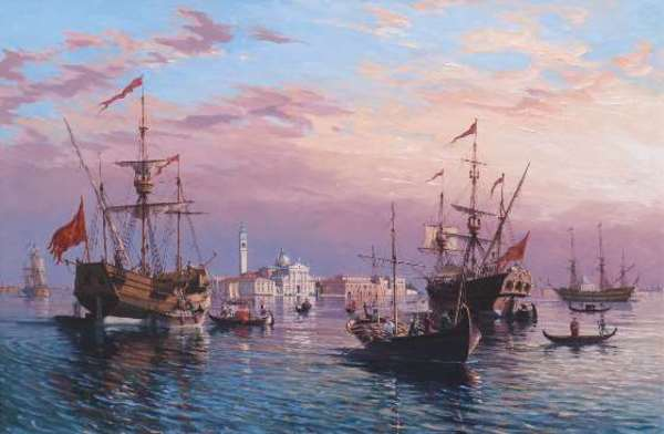 JH 1187 - The Bacino Di San Marco Anchorage by John Horton (FCA, CSMA)