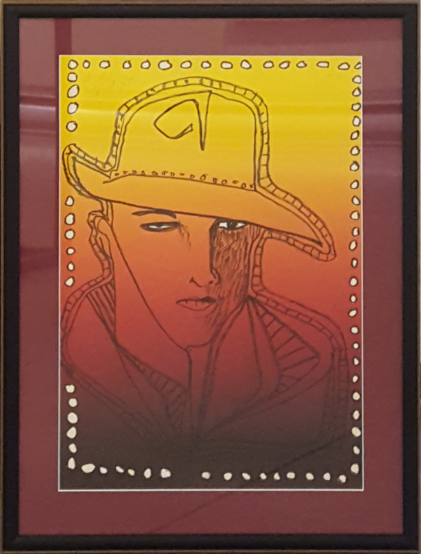 2509 - Rudolph Valentino by Harold Town (1924-1990)