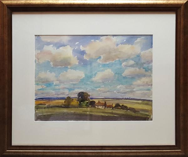 2385 - Trees and Clouds by Llewellyn Petley-Jones (1908-1986)