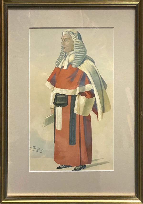 """2947 - """"Mr. Justice Grantham"""" (Vanity Fair) by Sir Leslie Matthew Ward (1851 - 1922)"""