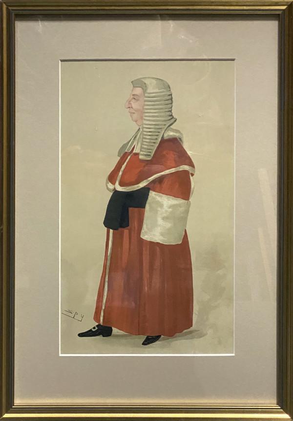 "2948 - ""Gentle Manners"" The Hon. Sir Ford North. (Vanity Fair) by Sir Leslie Matthew Ward (1851 - 1922)"