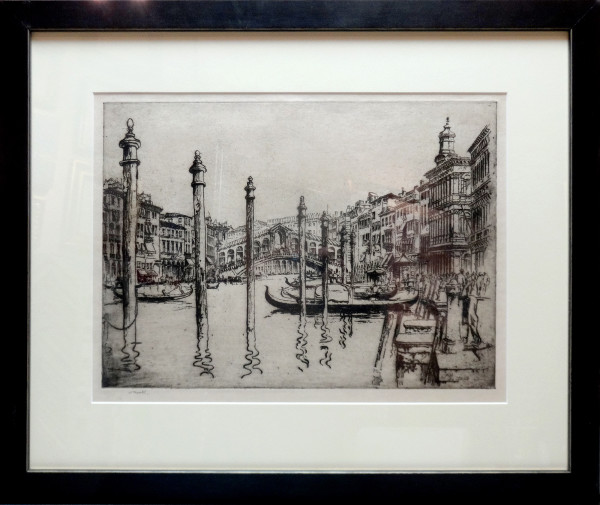 2530 - Venice Bridge by William Monk (1863-1937)