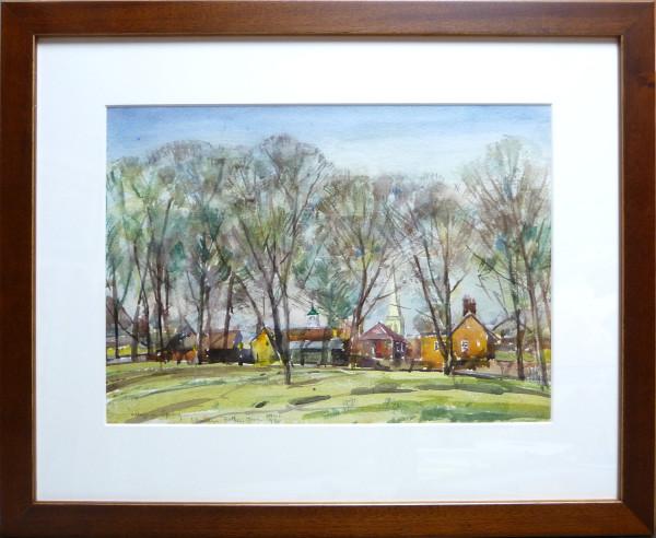 2387 - Village in Spring by Llewellyn Petley-Jones (1908-1986)