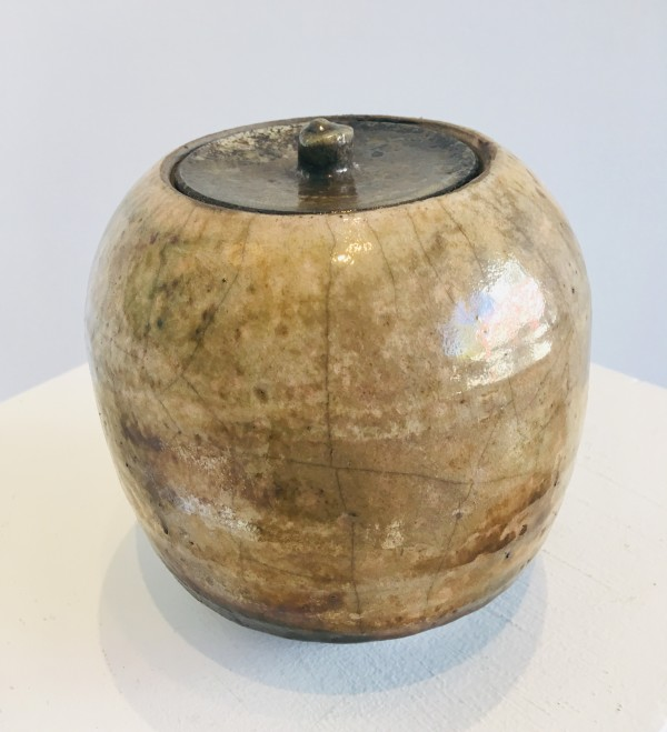 4053 - Ceramic Urn- Raku Pottery by Wayne G. Gnan