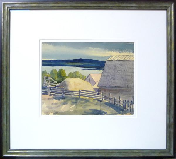 2378 - Wagon and barn, Wabamun Lake by Llewellyn Petley-Jones (1908-1986)