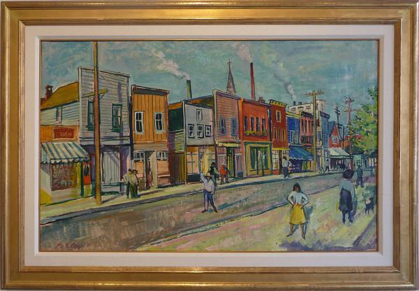 0264 - Western Town, North Vancouver by Llewellyn Petley-Jones (1908-1986)