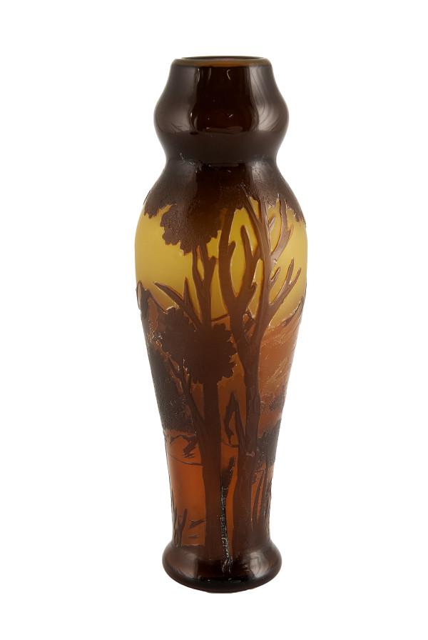 5027 - Galle Carved Glass Vase