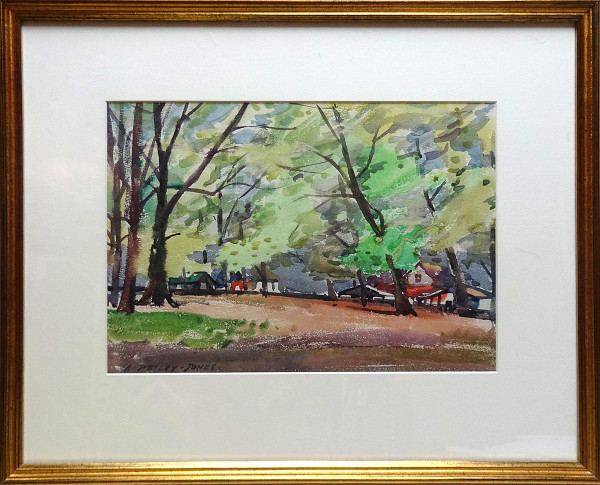 2439 - Edge of the Park by Llewellyn Petley-Jones (1908-1986)