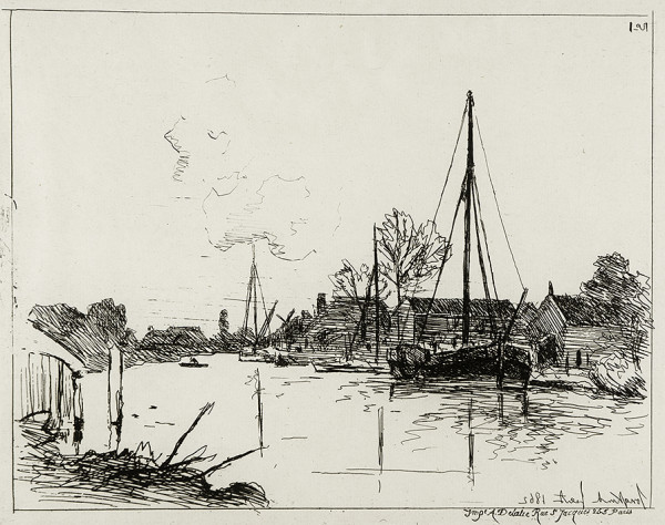 3001 - Views of Holland by Joan Barthold Jongkind