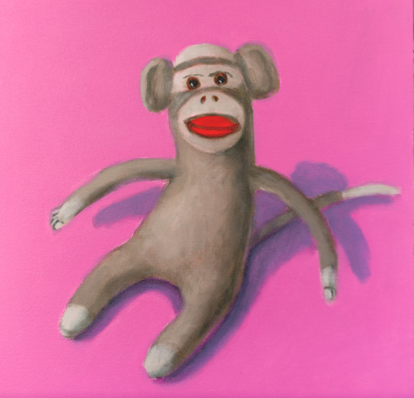 1038 - Monkey on Pink  Background by Thomas Anfield